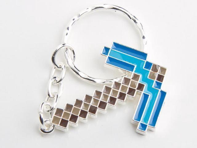 Minecraft Diamond Pickaxe Metal Keychain