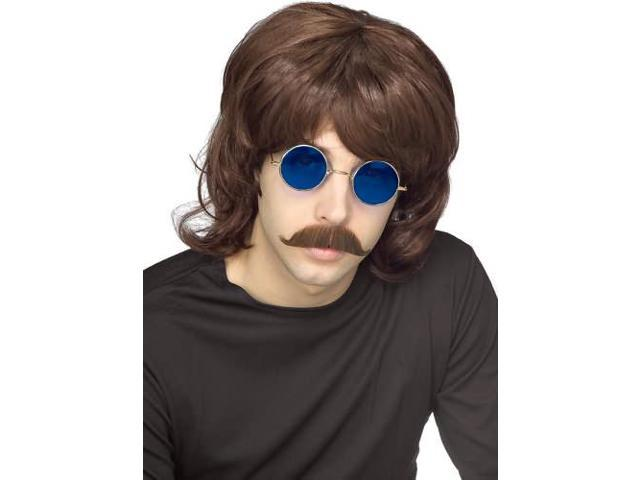 70'S Shag Adult Costume Brown Wig