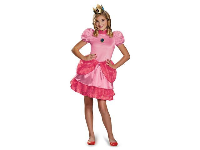 Super Mario Bros. Princess Peach Prestige Tween Costume 10-12