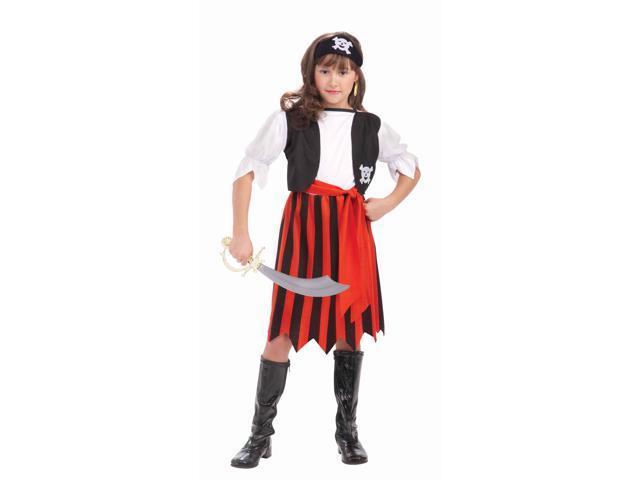 Pirate Lass Child Costume Large