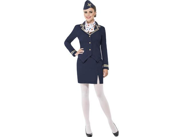 Airways Flight Attendant Stewardess Adult Costume X-Large