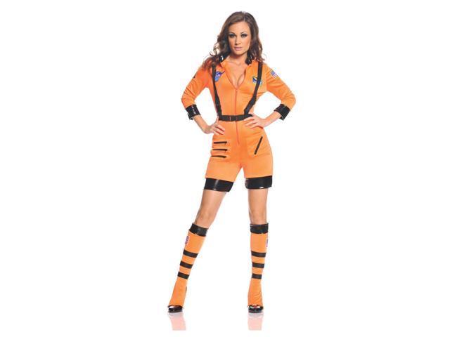 Galaxy Female Astronaut Stretch Romper Costume Orange Adult X-Large