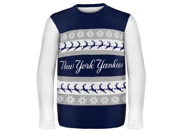 New York Yankees Wordmark MLB Ugly Sweater X-Large