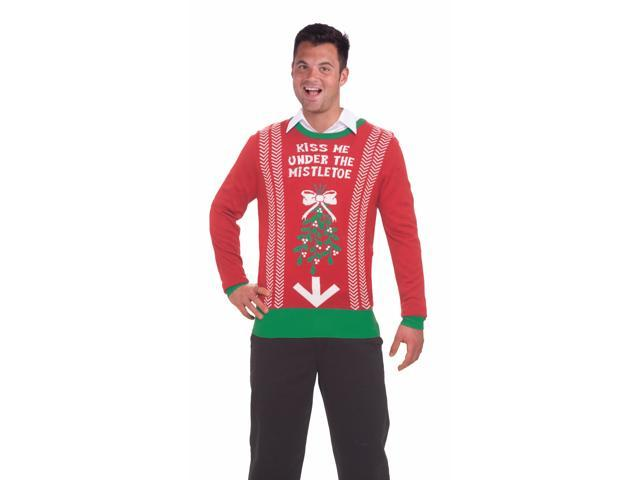 Ugly Christmas Under The Mistletoe Adult Sweater X-Large