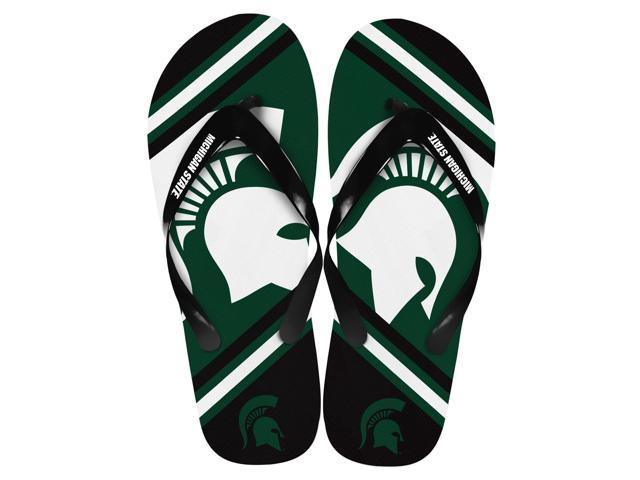 Michigan State Spartans Unisex Big Logo Flip Flops Medium (W 9-10/M 7-8)