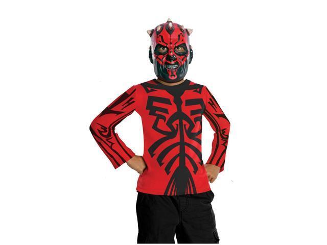 Star Wars Darth Maul Shirt & Mask Costume Set Child Medium 8-10