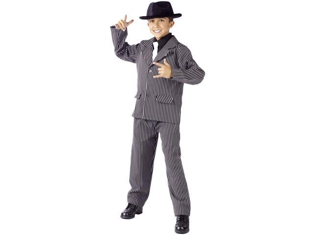 Gangster Pinstriped Suit Costume Child Large 12-14