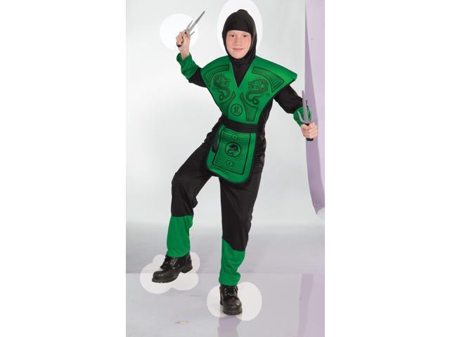 Green Ninja Child Costume Medium
