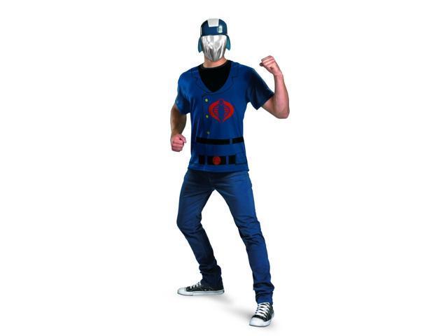 G.I. Joe Cobra Commander T-Shirt & Mask Costume Set Adult XX-Large