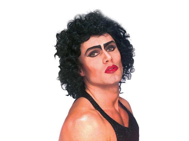 Rocky Horror Black Frank N Furter Adult Costume Wig
