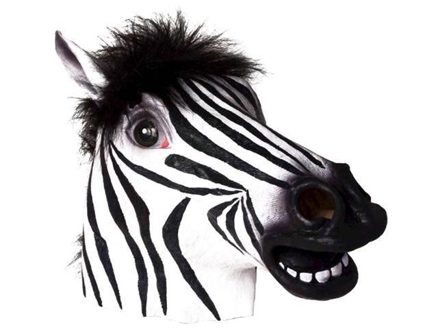 Adult Deluxe Latex Animal Costume Mask - Zebra