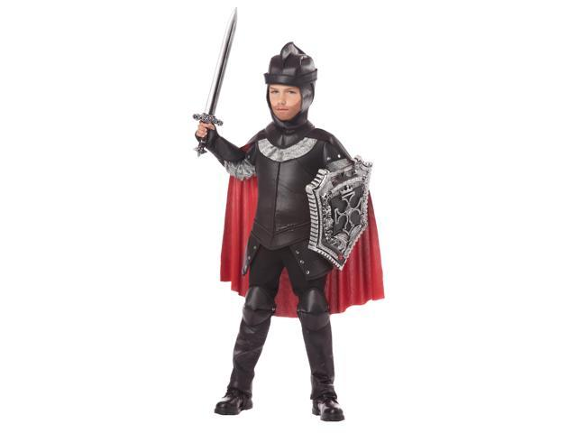The Black Knight Medieval Costume Child Large