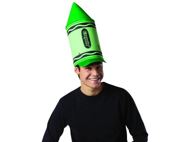 Crayola Green Crayon Costume Accessory Hat Adult