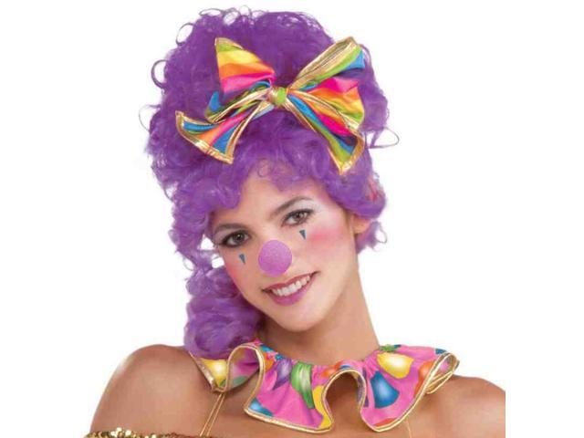 Purple Circus Sweetie Costume Clown Nose One Size