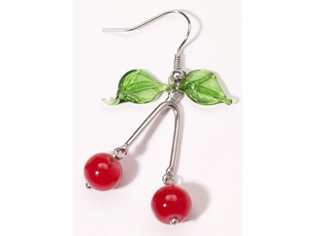 Retro Rock Cherry Earrings Costume Jewelry Adult One Size