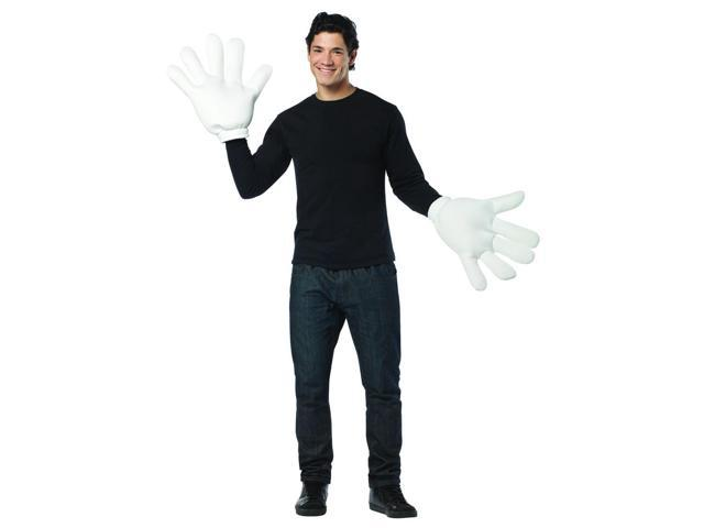 Jumbo White Cartoon Gloves Costume Accessory One Size Fits Most