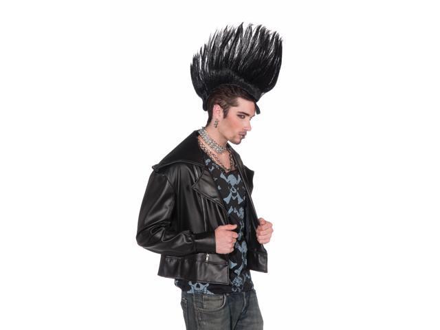 Punk Rock Mohawk Costume Hairpiece Adult: Black One Size
