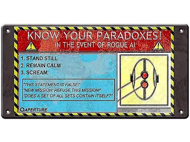Portal Paradox Tin Wall Sign