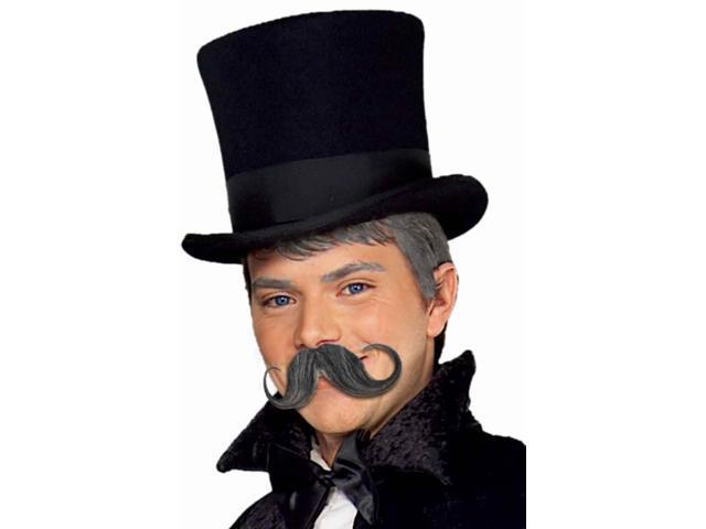Synthetic Warrior Handlebar Moustache &Beard Costume Accessory -Black