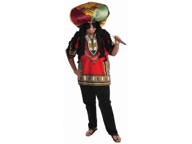 Rasta Ridiculous Costume Stuffed Hat Adult Size Standard