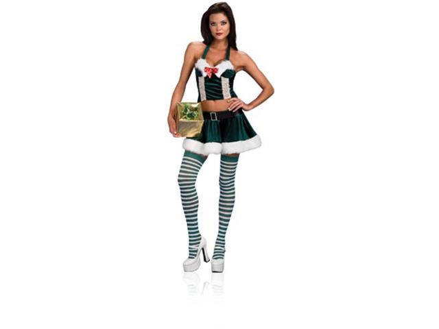 Sexy Santa Holly Helper Christmas Adult Costume Small