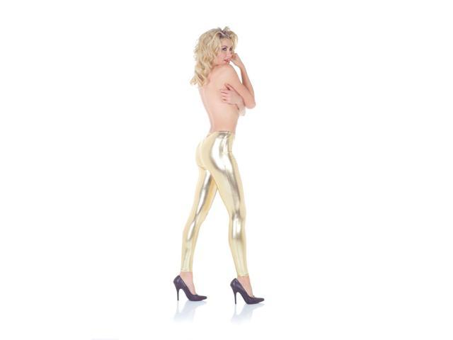 Leggings Costume Accessory Adult: Gold Large/X-Large