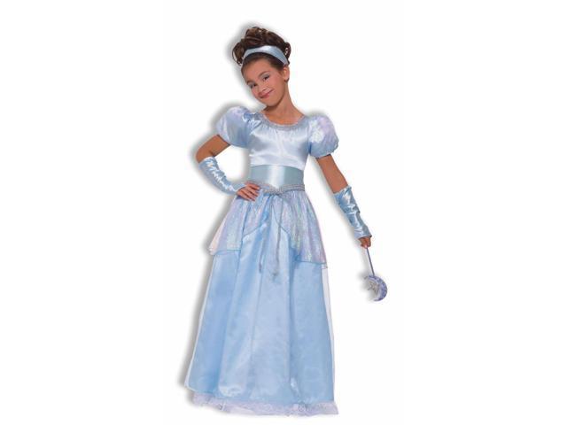 Cinderella Princess Blue Dress Costume Child Large