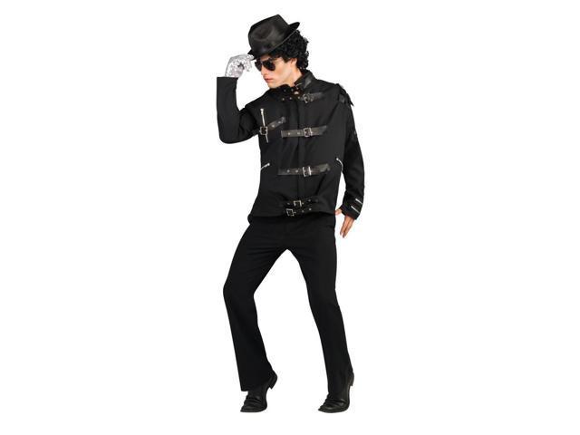Michael Jackson Bad Black Buckle Jacket Deluxe Costume Adult Medium