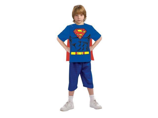 Superman Shirt & Mask Costume Set Child Large 12-14