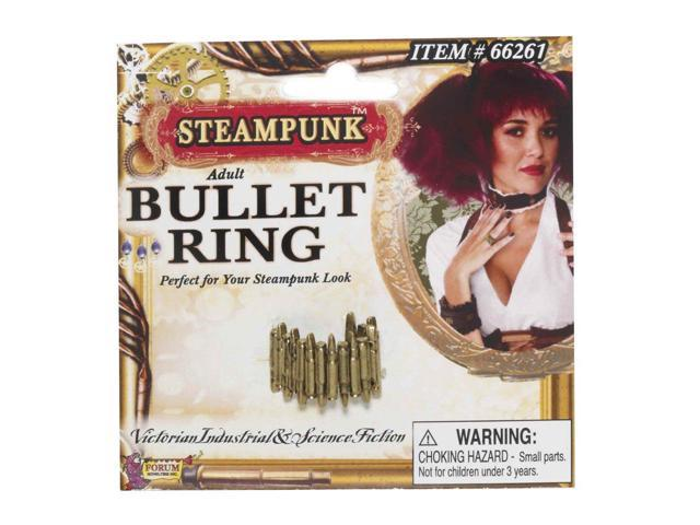 Steampunk Bullet Ring Costume Jewelry