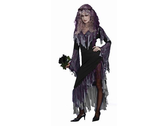 Evil Scary Zombie Bride Costume Adult One Size Fits Most