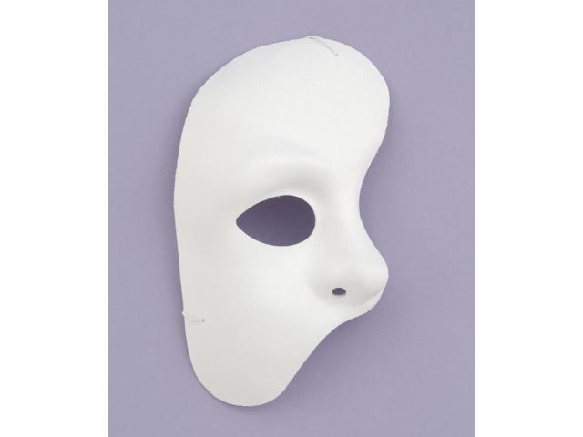 White Half Phantom Of The Opera Adult Costume Mask