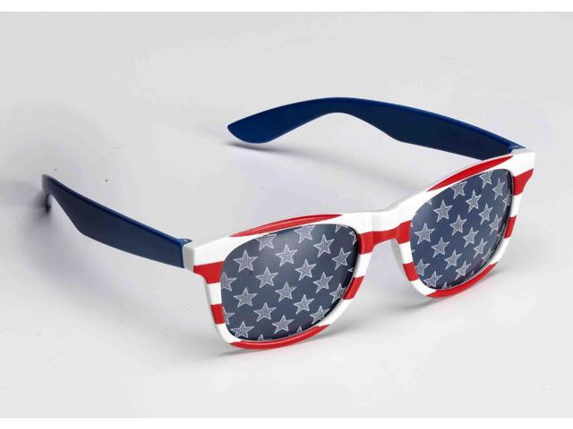 Patriotic Red, White, And Blue Adult Costume Sunglasses One Size Fits Most
