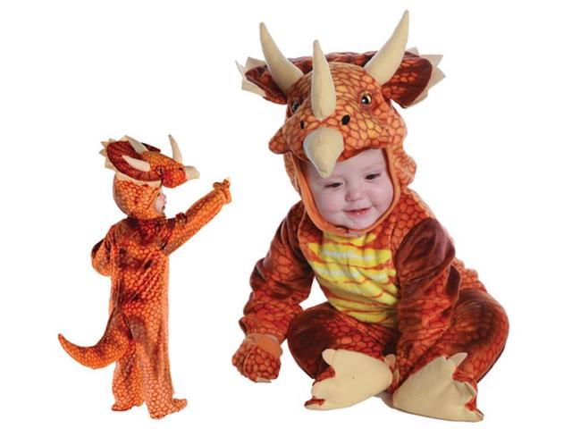 Rust Triceratops Plush Baby Costume 18-24 Months