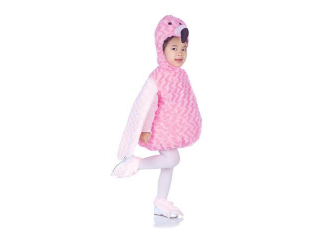 Belly Babies Pink Flamingo Costume Child Toddler Medium 18-24 Months