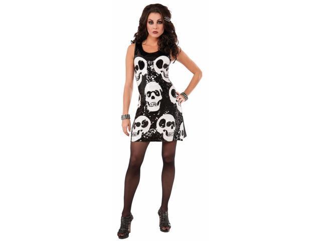 Sequin Skull Dress Adult Costume X-Small/Small