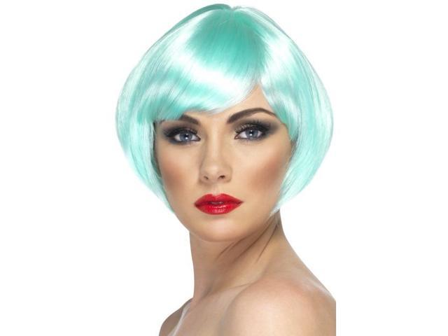 Babe Short Bob Costume Wig Adult Aqua One Size