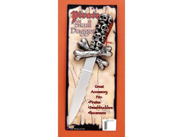 Pirate Skull Dagger Costume Weapon Adult One Size