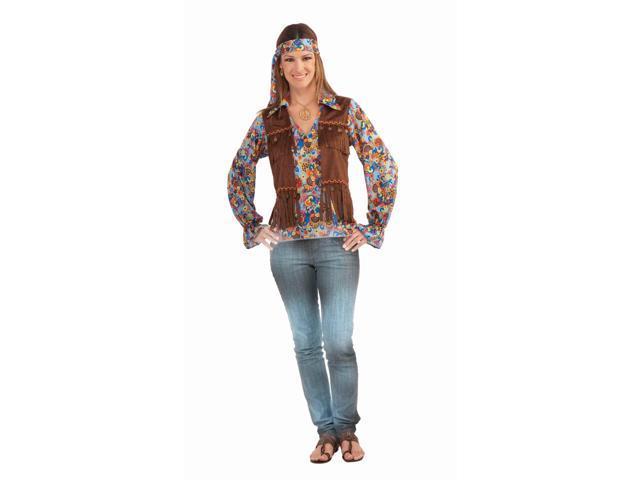 Female Hippie Groovy Costume Set Adult Standard