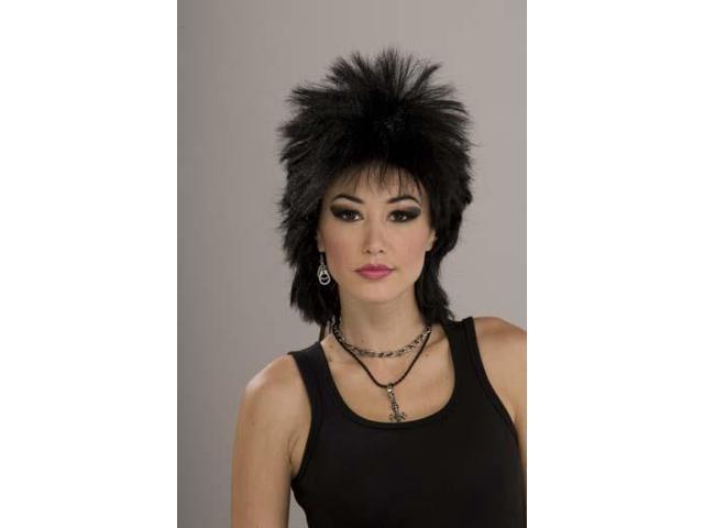 80's Rock Idol - Black Costume Wig