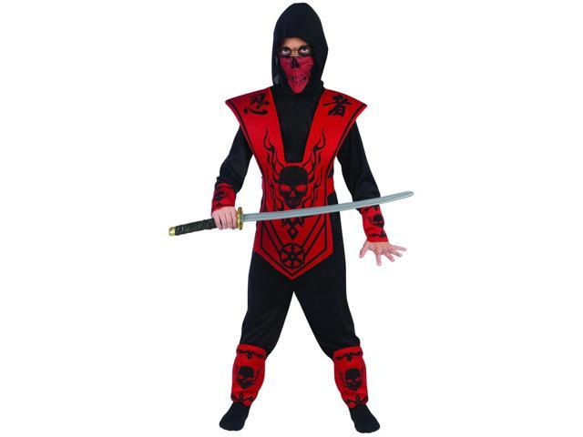 Red Skull Lord Ninja Costume Child Small 4-6