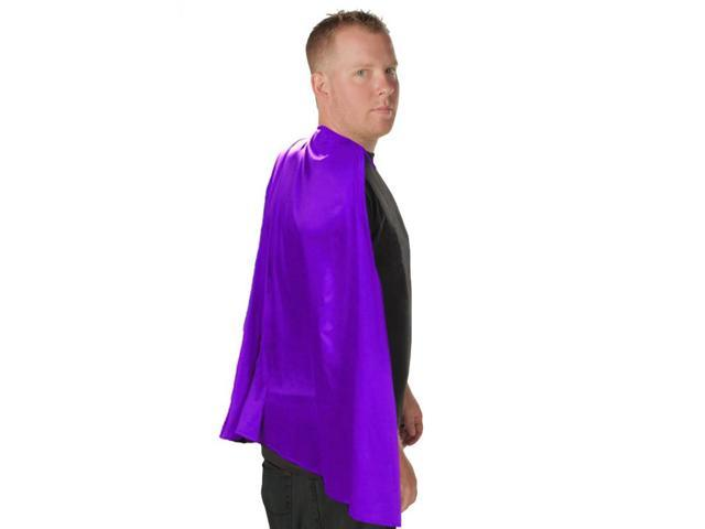 Deluxe Super Hero Costume Cape Purple One Size Fits Most