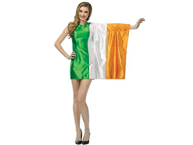 Flag Costume Dress Adult: Ireland 4-8