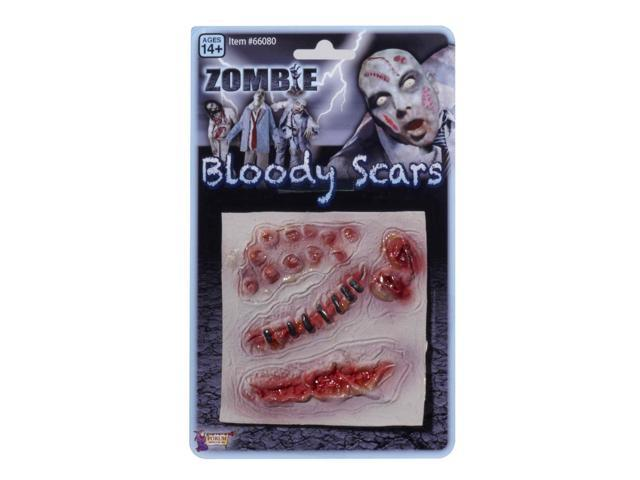 Zombie Multiple Prosthetic Bloody Scar Wounds Costume Accessory