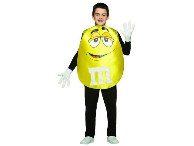 M&M Yellow Poncho Costume Teen Teen Standard