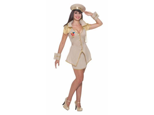 Sexy General Army Girl Dress Costume Adult Medium/Large