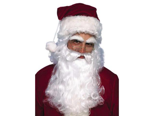 Santa Wig & Beard Christmas Costume Accessory Set One Size Fits Most