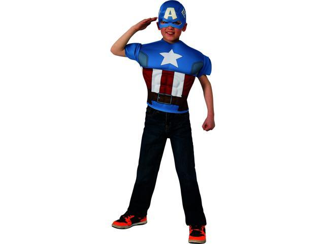 Avengers Assemble Marvel Captain America Muscle Chest Child Costume One Size
