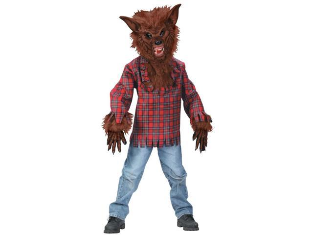 Werewolf Costume Child: Brown Large