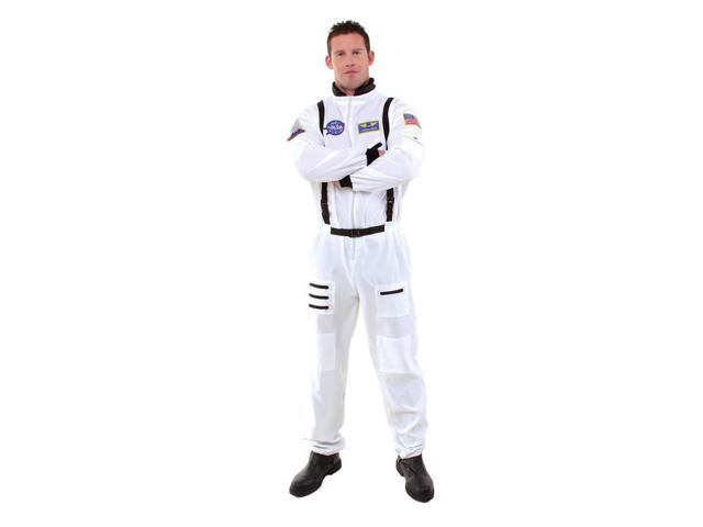 White Astronaut Uniform Jumpsuit Costume Teen Teen 14-16